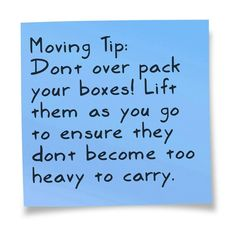 Moving tip  #RealEstate http://www.realestatetrio.com