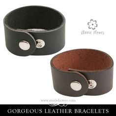 Gorgeous Wide Leather Cuff Bracelet from www.anniehowes.com