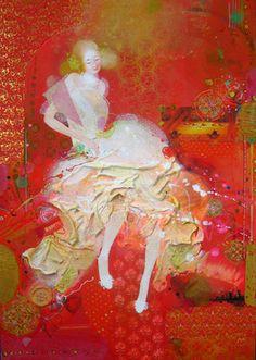 "Saatchi Online Artist Yulia Luchkina; Painting, ""Doll.  "" #art"