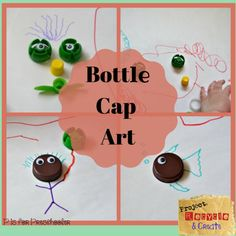 Creativity with bottle caps #createrecycle