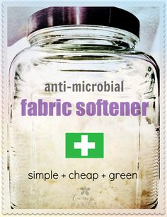 Cheap and green fabric softener! Pinned over 1,700 times!