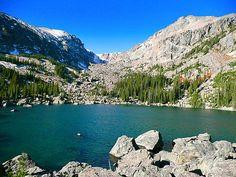Lake Haiyaha - 3.9 miles, Bear Lake Trailhead, Rocky Mountain National Park Hiking