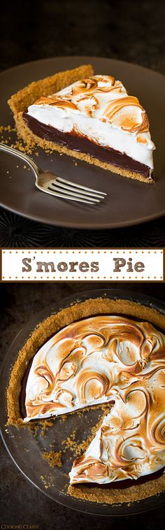 S'mores Pie: what more can you say? SO good.