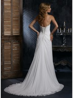 Soft Chiffon Wedding Gown of Empire Style MBD7553