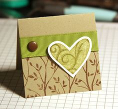 mini heart card