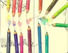 Inktense pencils...