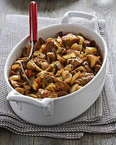 Spezzatino al forno con champignon