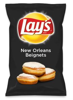 Go vote for my flavor! -Jacelyn Wouldn't New Orleans Beignets be yummy as a chip? Lay's Do Us A Flavor is back, and the search is on for the yummiest flavor idea. Create a flavor, choose a chip and you could win $1 million! https://www.dousaflavor.com See Rules.