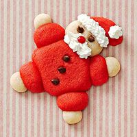 Roly-Poly Santa Christmas cookies - these made me laugh out loud. So cute!