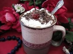 Black Forest Coffee Smoothie Ingredients: 2 Scoops Visalus Shake Mix 1 c. brewed coffee (chilled) 1/2 c. milk 1/2 c. frozen cherries 1 Chocolate flavor mix in Qty ice Directions: Blend well and enjoy. Top with a tiny dollop of light cool whip.