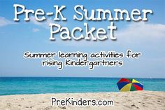summer packet via www.prekinders.com #preschool
