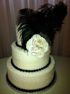 Vintage Sparkly wedding cake