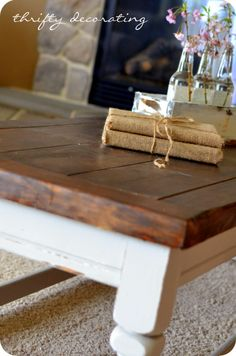 Coffee Table Redo. I need to redo the top of my coffee table so this caught my eye.