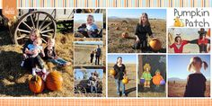 Pumpkin Patch Layout by No Reimer Reason #digiscrap #digitalscrapbook #scrapbook