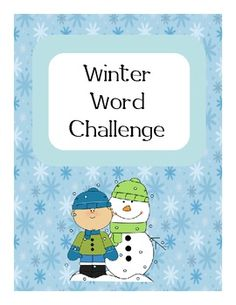 Winter Word Challenge - Pinned by @PediaStaff – Please Visit ht.ly/63sNtfor all our pediatric therapy pins