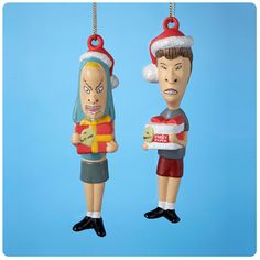 Beavis and Butt-Head Figural Christmas Ornaments 2-Pack