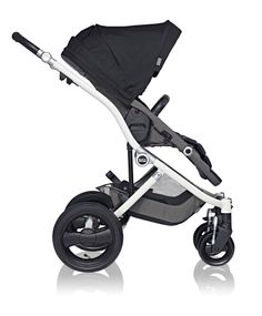 Affinity Stroller by Britax in Black with white chassis #fashion #custom