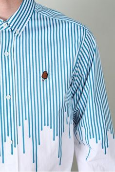 Billionaire Boys Club White & Blue Drip Shirt