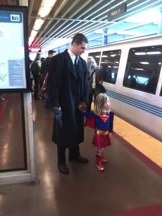 Dads help to make sure that their little girls turn into big superheroes.