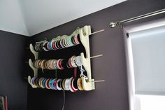 What a great way to re-purpose a gun rack! Think of all the things that it could hold!!