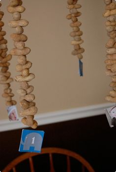Peanut garland for a Peanut Party