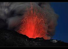 Lava Explosion - Eyjafjallajökull Eruption by orvaratli, via Flickr