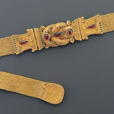 Greek Gold Belt With a  Herakles Knot                                                                                                                                                        Culture :                  Greek                                              Period : Greek, late 4th – early 3rd century B.C.