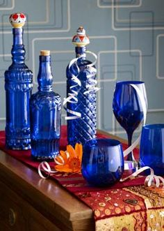 Blue glass at Pier One