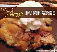 Peach Pineapple Dump Cake | AllFreeCasseroleRecipes.com