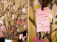 Note tree at wedding...so people can write advice to the couple :)