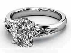 Oval Diamond Triquetra Celtic Engagement Ring  - ES835OVWG