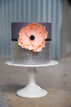 Jessica Harris | Edible silver leaf lace cake