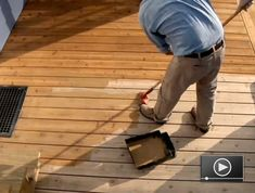 Join the At Home channel's host, Jeff Wilson, as he demonstrates how to refinish a wood deck.