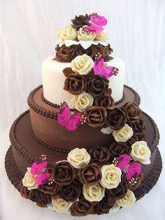 chocolates, butterflies, cake flowers, weddings, roses, chocolate wedding cakes, rose cake, chocolate cakes, crazy cakes