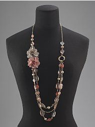 Flowers, Beads & Chains Necklace