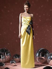 pretty! yellow bridesmaid dress