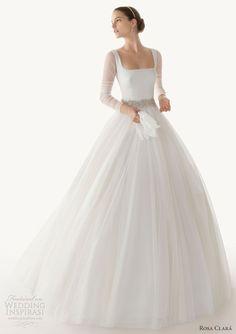 rosa clara 2013 belinda ball gown wedding dress long sleeves