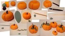 Fondant pumpkin diy