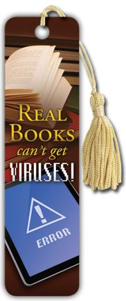 E-reader - Real Books - Tasseled Bookmark