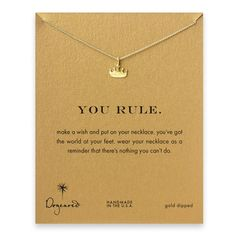 Dogeared You Rule Gold Crown Necklace