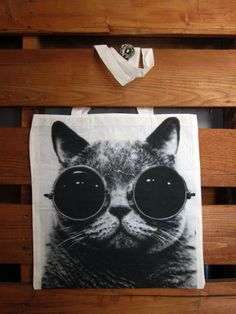 Cool Cat Tote Bag. by TheSellOut on Etsy, $17.99