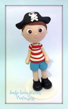 Topo de bolo Piratinha =) | Flickr: partage de photos!