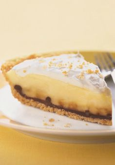 Black Bottom-Banana Cream Pie — Classic diner cream pie meets state fair midway treat, and a star is born. It's like a chocolate-dipped banana, only with a crust instead of a stick