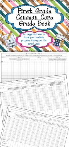 First Grade Common Core Grade Book