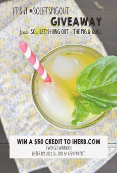 $50 iherb.com GIVEAWAY from #soletspigout summer potluck! #giveaway