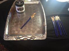 DIY Silver Platter Chalkboard