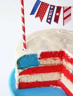 The coolest fourth of July cake ever!