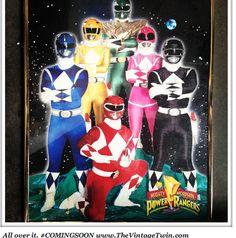 Who misses the Power Rangers like we do?    www.thevintagetwin.com power ranger