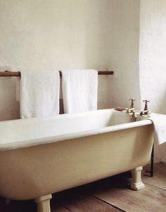 wooden towel bar