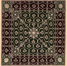 Antique Indian velvet embroidery, Mughal, 1526-1857